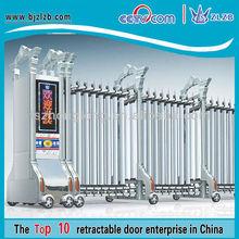 Hotel gate in foshan folding rail gates and grills design