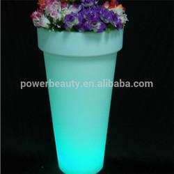 best selling outdoor decorative led plastic flower pot wholesale