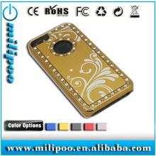 bling diamond chrome aluminum hard pc Mobile Case for iPhone5C