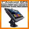 "7""HD Android GPS navigation Capacitive Screen Dual Cameras DVR AV IN WIFI FMT Boxchips A13 512MB/8GB 2060P Video External 3G"
