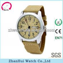 Date windows fabric strap japan quartz watch movements