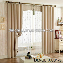 Three-pass luxury restaurant eyelets blackout curtain/home textile