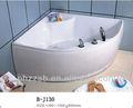 Baratos de una persona de acrílico interior independiente de la esquina bañera de hidromasaje bañera de masaje; portátil de hidromasaje bañera b-j130