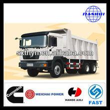 Vente chaude! Cimc- shacman lourde- duty truck d- long f2000 6*4 euro3 10 camion benne ton mieux que iveco camion à benne basculante