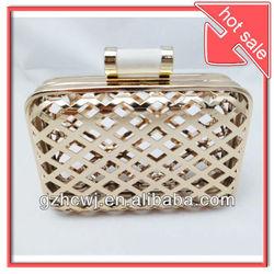 2013 hot sale metal rectangular box cluch bag frames, metal purse frames, bag hardware