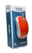 INCA GULAN IWM-111 RM Orange 2.4G Wireless Mouse With 800 DIP Resolution and Built-in Mini Nano Reciver