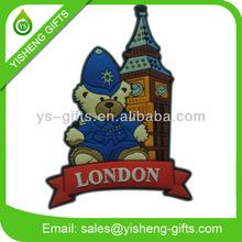 LONDON Bear Souvenir 3D Rubber Fridge Magnet