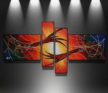 Pintura al oleo abstracta moderna para la decoracion