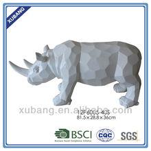Rhino decor &Animal Decoration with wood cutting finish