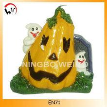 Halloween pumpkin shaped candles