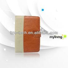 custom design leather bookcase for ipad mini