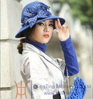 New winter fedora wool felt hat for women wholesale price