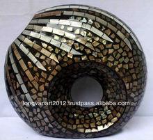 2013 Got sale! Vietnam Seashell Mosaiced lacquer Vase