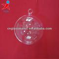 soufflé à la main hanging boules de verre borosilicate clair pour la vente