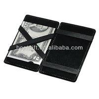black pocket magic wallet men