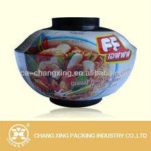 Plastic heat shrink sleeve for bowl