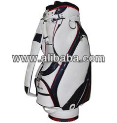 "Golf Bag China Manufactuer 9"" PU Golf Bag with Rainhood"