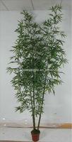 artificial green bamboo bonsai /fake bamboo fabric leaves