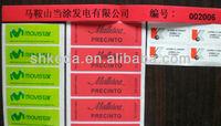permanent transparent waterproof plastic adhesive sticker