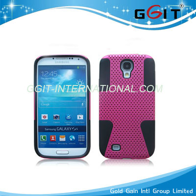 New Product Silicone+PC Mesh Combo Case for iPhone 5C Case
