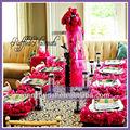 Np018a decoración de la boda del organza fuscia servilleta, Placa de estera