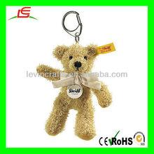 LE-D593 Plush Keyring Sophie Teddy Bear Keychain 12cm with Cream Bow