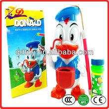 donald duck bubble gun,bubble blowing fun toy