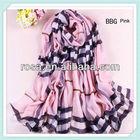 RWK97 wholesale 100% silk chiffon scarf printed fashion Leopard scarfs hijabs