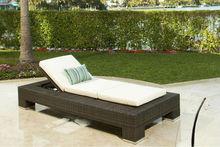 Venta caliente al aire libre ratán antiguo sofá-cama(2098)