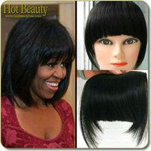 5A Top Quality 100% Virgin Sliky Hot Beauty Hair Products Bang Clip On Bangs