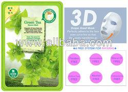 3D Natural Essence Facial Mask - Green tea