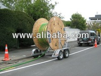 SELF LOADING DUCTING DRUM TRAILER FITTED WITH FULL ROTATING DEVICE