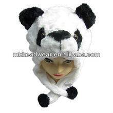 Soft plush animal shaped hats plush animal head hat