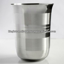 Stainless steel drinking water glass/ steel glass