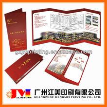 2013 Cheap Hot Sell Custom Creative Colorful Tri-fold Hotel Brochure