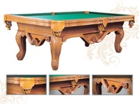8ft Billiard Table/25mm Slate Top Hand Carved Home Pool Table