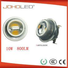 0.09A @ AC100V/50HZ 0.045A @ AC240V/50HZ COB 2*5W 12v heat ar70 spotlight