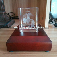 Wooden crystal led display light box