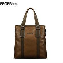 Top grain leather satchel for men