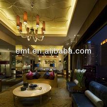 Wonderful and elegant adorn lobby sofa set specialize design for hotel (EMT-HTB16-(1)