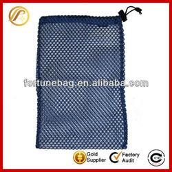 Practical nylon mesh bag with drawstring