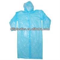 disposable PE raincoat/disposable plastic raincoats