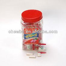 fruit gummy candy in plastic bottle