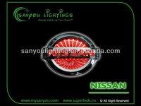 3D led badges lights/ led car badges emblems 12V for NISSAN