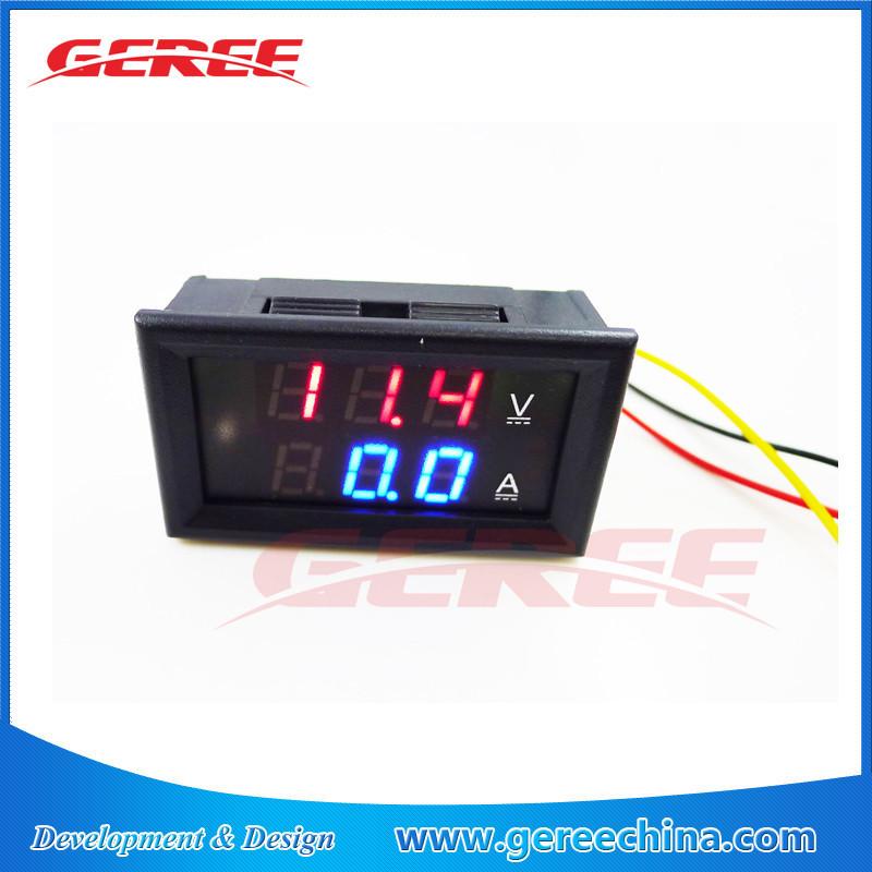Dc amperímetro e voltímetro digital dc 4.5-30v 0-100a com shunt