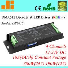 Hot Sale RGBW DMX Decoder 4CH DMX512 LED Driver RGBW Controller