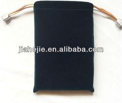 black velvet bag for mobile charger or gift packing