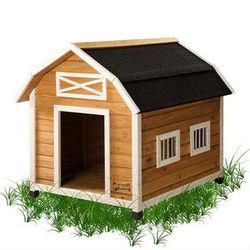 Unique Wooden Dog House / Dog Kennel with Asphalt Roof