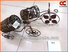 C-5 Wholesale Hot selling Fashion Wall Mounted Metal Wine Rack