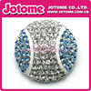 High Quality alloy clear Rhinestone crystal Metal round baseball ball shape Buttons